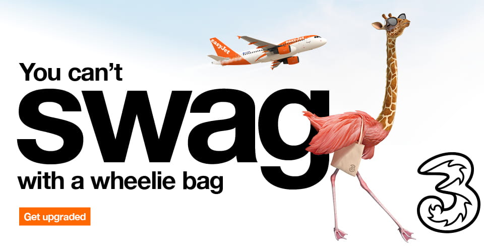 We Ve Teamed Up With Three To Give Pay Monthly Customers Some Extra Special Treatment When They Fly Leave Your Baggage Hassles Behind Because Now You Can